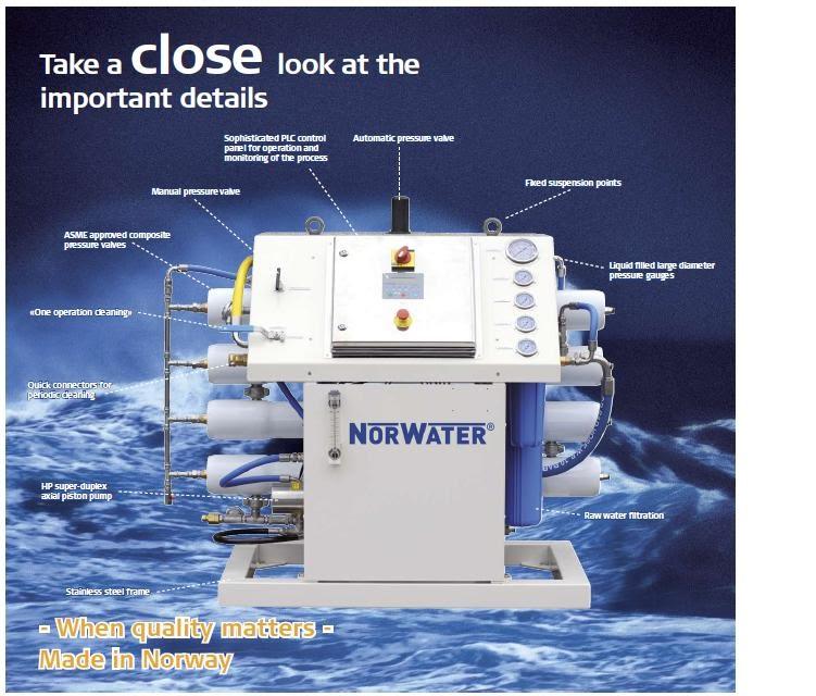 NORWATER FRESH WATER MAKER SYSTEM - KAWA MARINE SERVICES